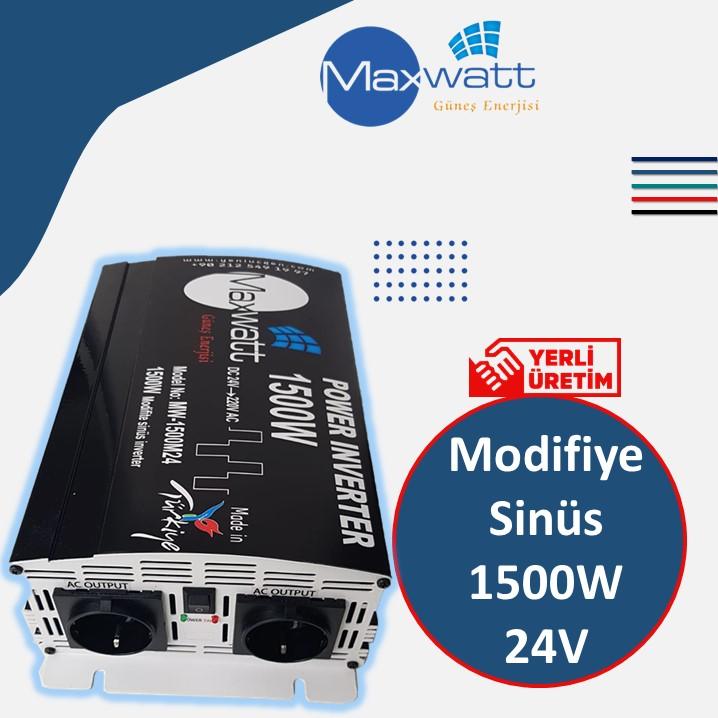 1500 w / 24 volt Yerli Üretim İnvertör/İnverter Maxwatt Yeni Üçgen Enerji