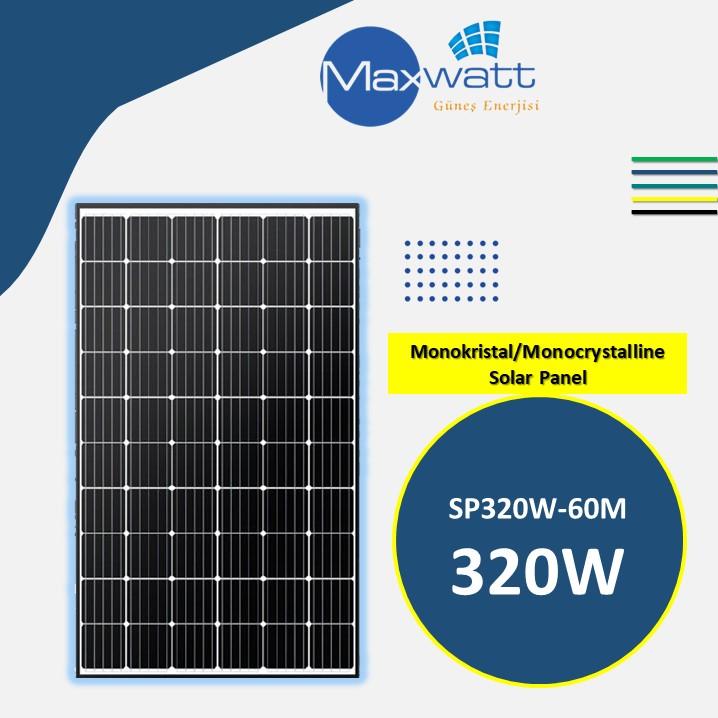 Monokristal Solar Panel320W 60 Hücre MAXWATT YENİ ÜÇGEN ENERJİ