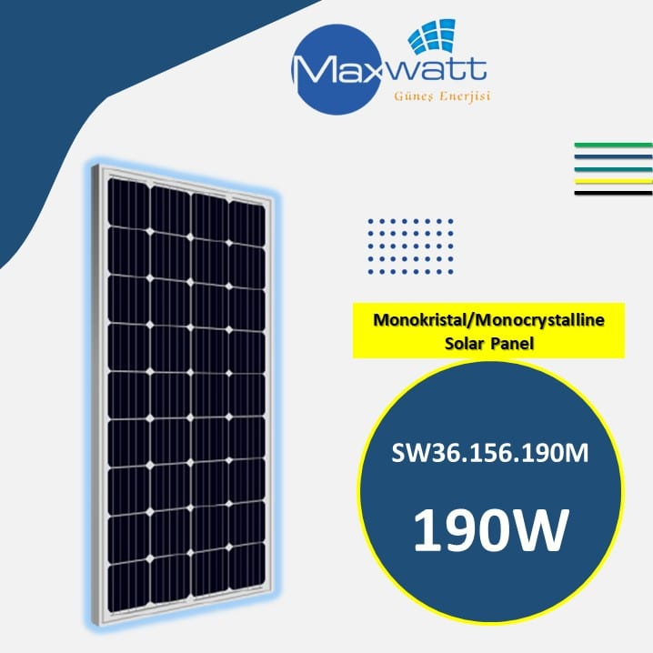 Read more about the article Monocrystalline Solar Panel 190W 36 Cells