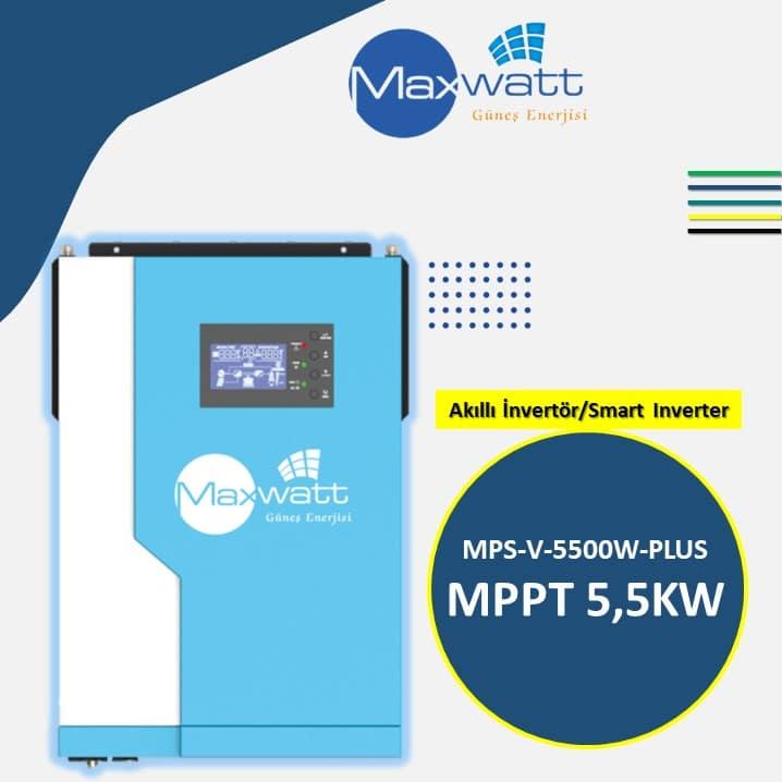 Akıllı İnvertör MPPT 5,5KW MPS-V-5500W-PLUS MAXWATT ENERJİ