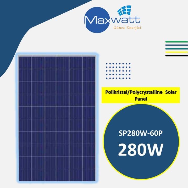 Polikristal Solar Panel 170W 36 Hücre MAXWATT YENİ ÜÇGEN ENERJİ