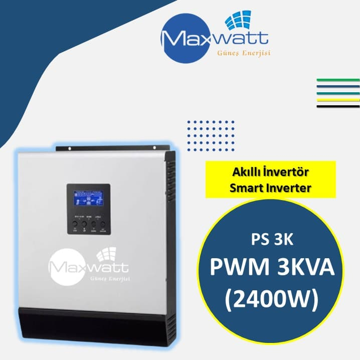 Read more about the article PS Solar İnvertör 3KVA (2400W)