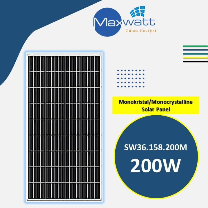 Read more about the article Monokristal Solar Panel 200W 36 Hücre